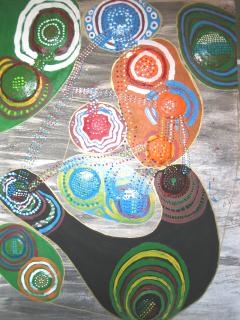 Interpretación sobre madera y pintura plástica del orden mundial