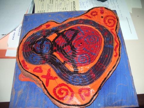 Espiral de vida en cerámica sobre DM